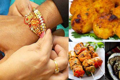 Raksha Bandhan 2019, Rakhi 2019, Raksha Bandhan Food, Tandoori Aloo Tikka, Paneer tikka, Boondi ka raita, Kadhi Chawal, Malpua rabri, Halwa