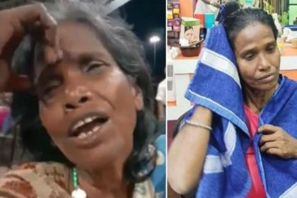 Ranaghat station Woman Video Viral Ranu Mondal makeover Photos Lata Mangeshkar Ek Pyaar Ka Nagma Hai Viral Song