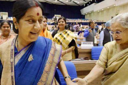 Sushma Swaraj Sheila Dikshit Delhi Chief Minister Delhi CM