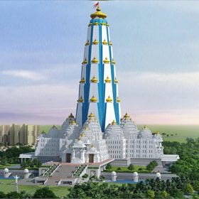 Vrindavan Chandrodaya Mandir World Tallest Temple of Lord Krishna Janmashtami 2019 Chandrodaya Mandir Mathura