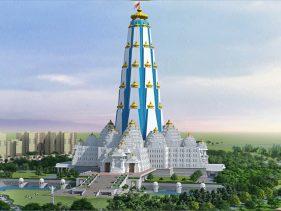 Krishna Janmashtami 2019: कुतुबमीनार से भी 3 गुना ऊंचा है वृंदावन का चंद्रोदय मंदिर, जानिए इसकी खासियत