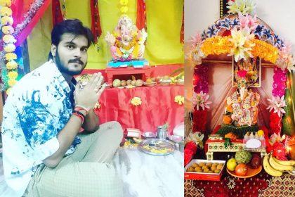 Ganesh pooja Arvind Akela kallu Shubhi Sharma