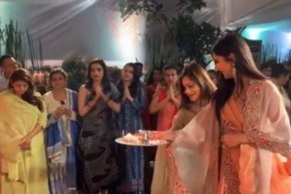 Katrina Kaif joins Salman Khan Family for Lord Ganesh aarti video viral Ganesh Chaturthi