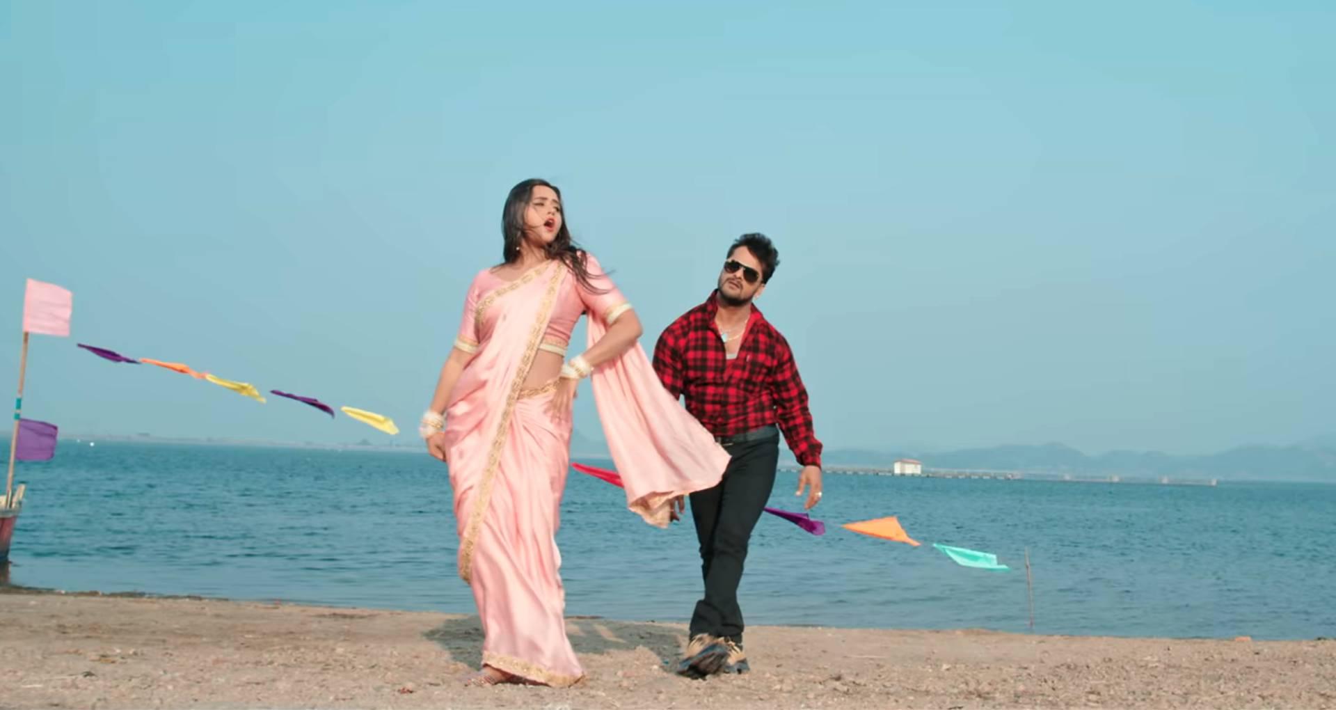 Dhaniya Achara Se Kala Tani Kabhar Song: खेसारी लाल यादव-काजल राघवानी के इस रोमेंटिक सॉन्ग की धूम, देखिए गाना