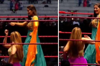 सपना चौधरी का WWE रिंग में वायरल डांस (फोटो-इंस्टाग्राम)