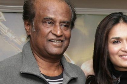 Rajnikanth and Soundarya