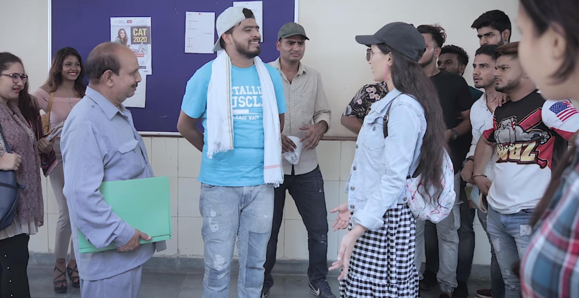 Amit Bhadana Funny Video: कॉलेज में जब आई अंगरेजी मैम, देख यूं फिसल गए लड़के, देखिए अमित भड़ाना का नया वीडियो