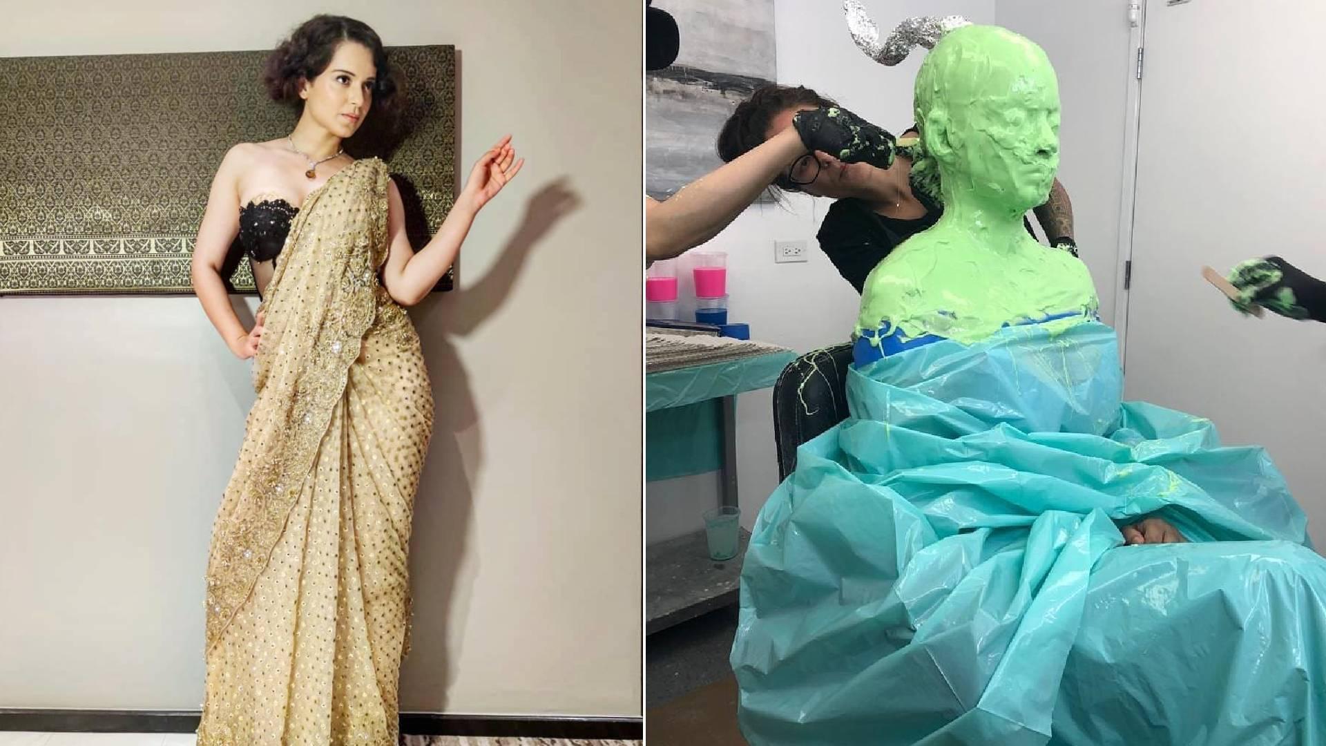 PHOTOS: जयललिता जैसा लुक पाने के लिए कंगना रनौत कर रही हैं जमकर तैयारी, तस्वीरों में देखिए थलाइवी का अंदाज