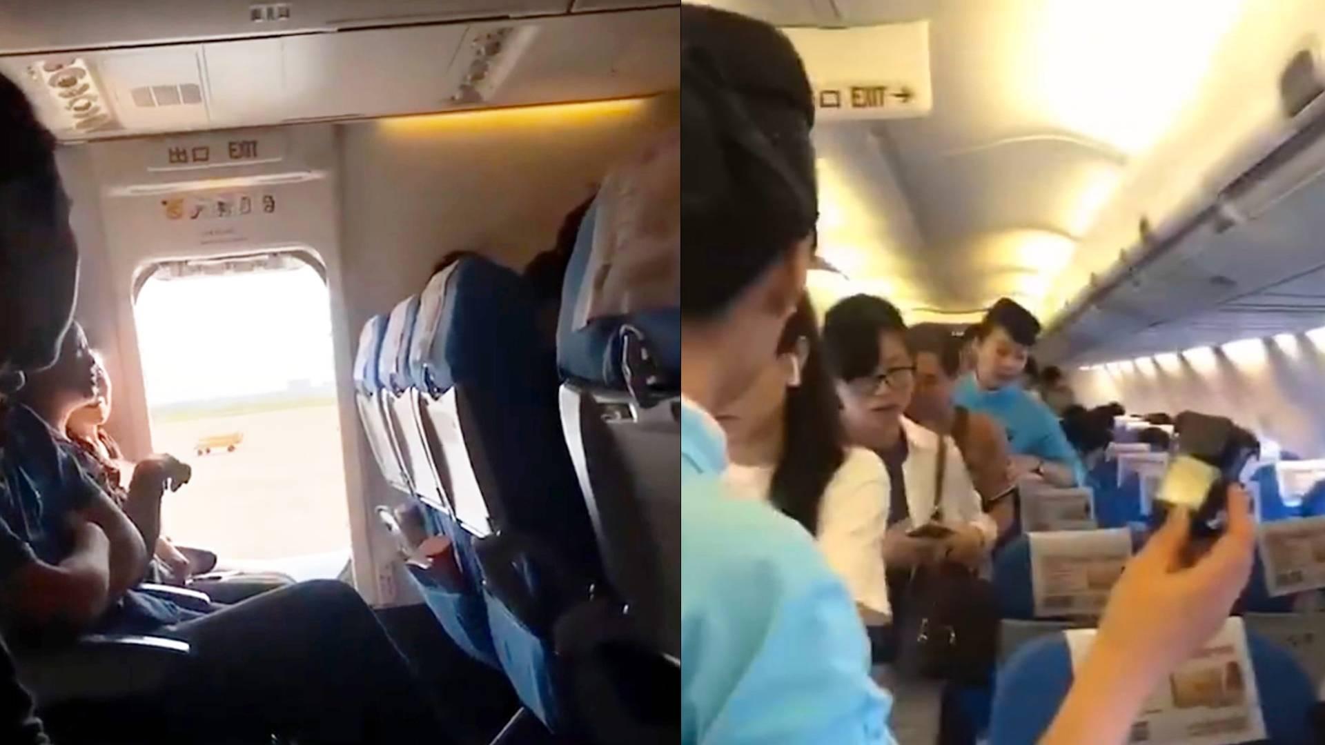 फ्लाइट में महिला को हुई घुटन, तो बीच आसमान में ही खोल दिया इमरजेंसी गेट, देखिए हैरान कर देने वाला वायरल वीडियो
