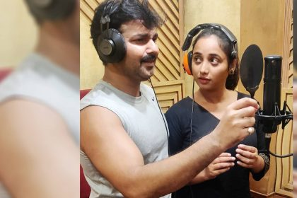 Rani Chatterjee Pawan Singh Song Recording