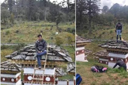 अभिजीत रतन हजारे ने भूटान में की ये शर्मनाक हरकत (फोटो-सोशल मीडिया)