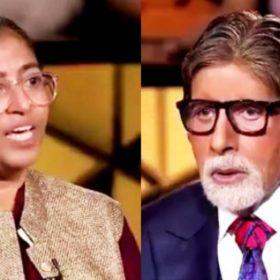 कर्मवीर स्पेशल एपिसोड में सुनीता कृष्णन- अमिताभ बच्चन (फोटो-सोशल मीडिया)