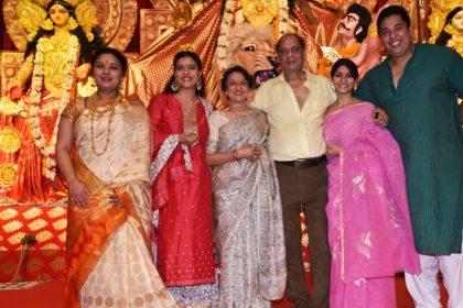 दुर्गा पंडाल में पूरे परिवार संग पूजा करने पहुंची काजोल, लाल जोड़े में कुछ इस अंदाज में आईं नजर, देखें तस्वीरें