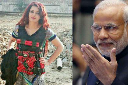 Pakistani singer Rabi Pirzada being human bomb shares photo threatens PM Narendra Modi