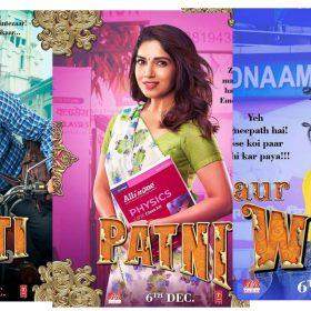 Pati Patni Aur Woh Movie posters Kartik Aaryan Bhumi Pednekar Ananya Panday