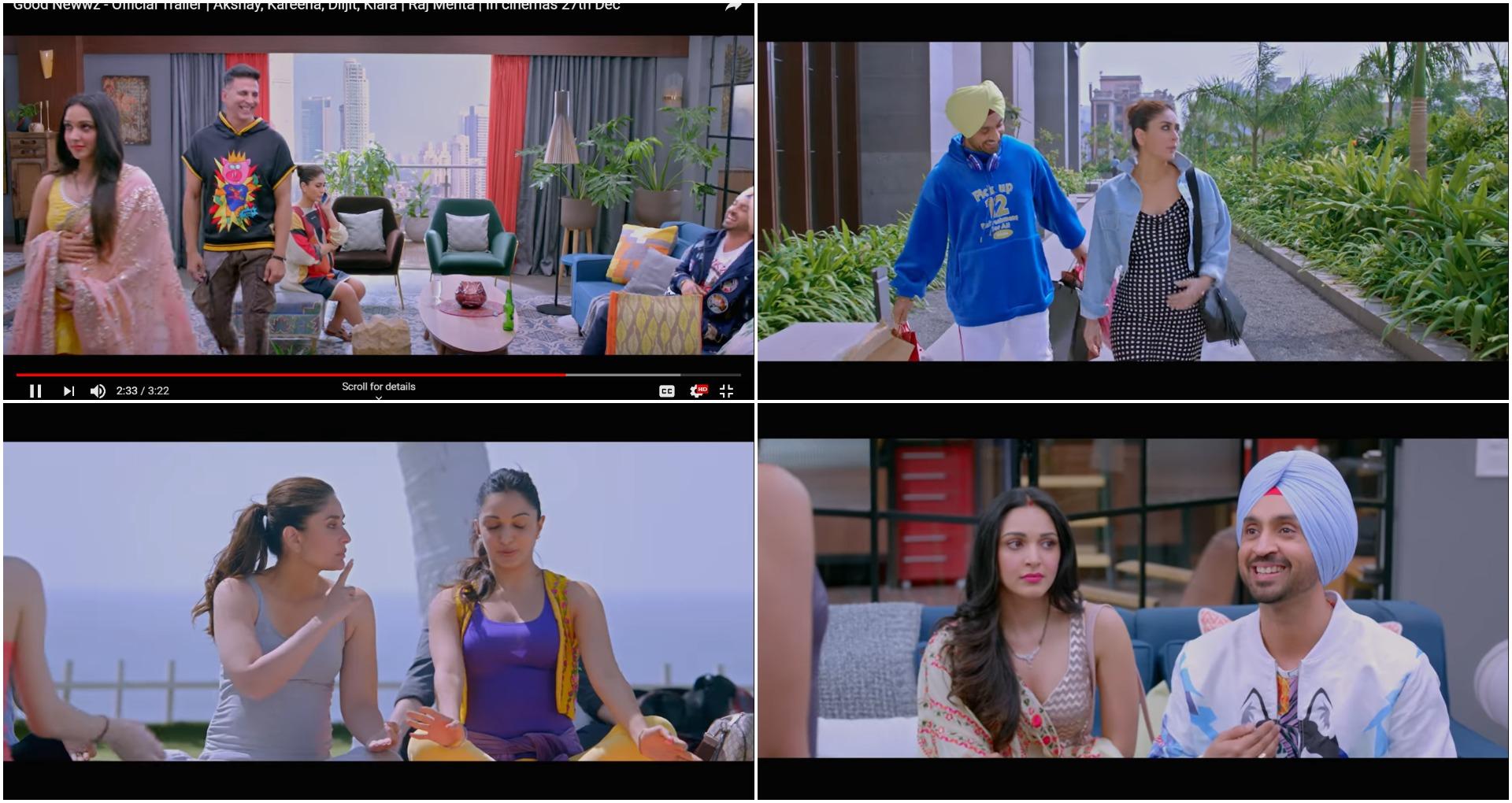 Good Newwz Trailer: वाकई में अक्षय हैं बॉलीवुड के खिलाड़ी, करीना, दिलजीत, कियारा संग लगाया कॉमेडी का तड़का