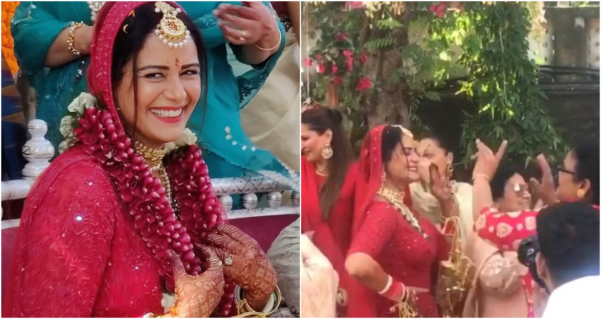 Mona Singh Wedding: मोना सिंह लाल जोड़े में लग रही हैं बेहद ख़ूबसूरत, शादी के मौके जमकर किया डांस, देखें वीडियो