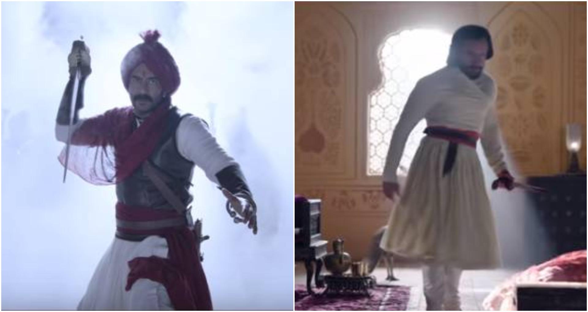 तानाजी द अनसंग वॉरियर' का तीसरा गाना 'घमंड कर' हुआ रिलीज़, अजय और सैफ युद्ध के लिए हैं तैयार, देखें वीडियो