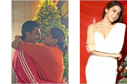 रणवीर सिंह, दीपिका पादुकोण और सारा अली खान की तस्वीर (फोटो: इंस्टाग्राम)