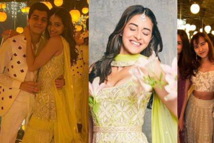 अनन्या पांडे पहुंची फ्रेंड की शादी में, तस्वीरों में देखिये इनका देसी स्वैग