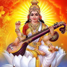 माँ सरस्वती की तस्वीर