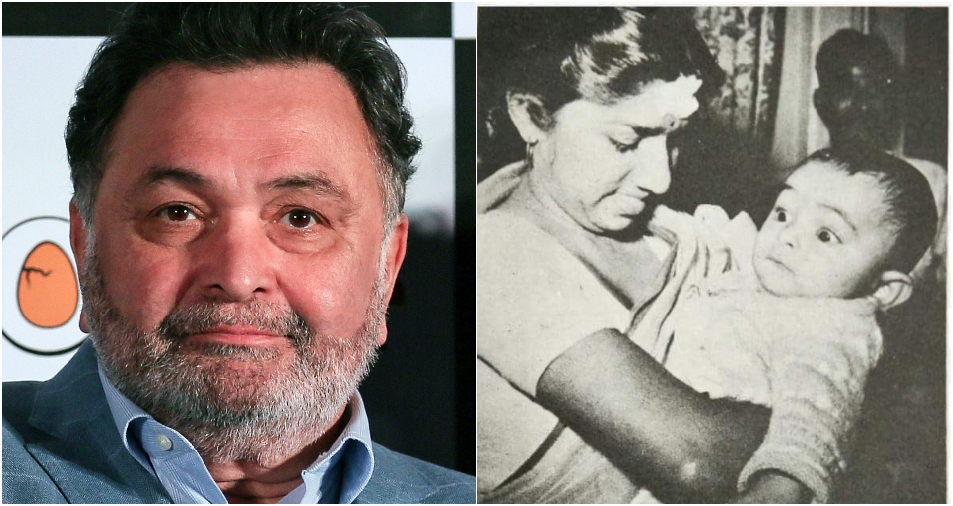 Rishi Kapoor shared a picture on Twitter, little Rishi Kapoor, seen with Lata Mangeshkar, is going viral on social media