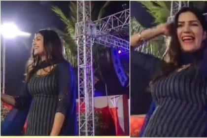 Sapna Choudhary ने स्टेज पर एक बार फिर अपने डांस से आग लगाया, वीडियो हुआ वायरल