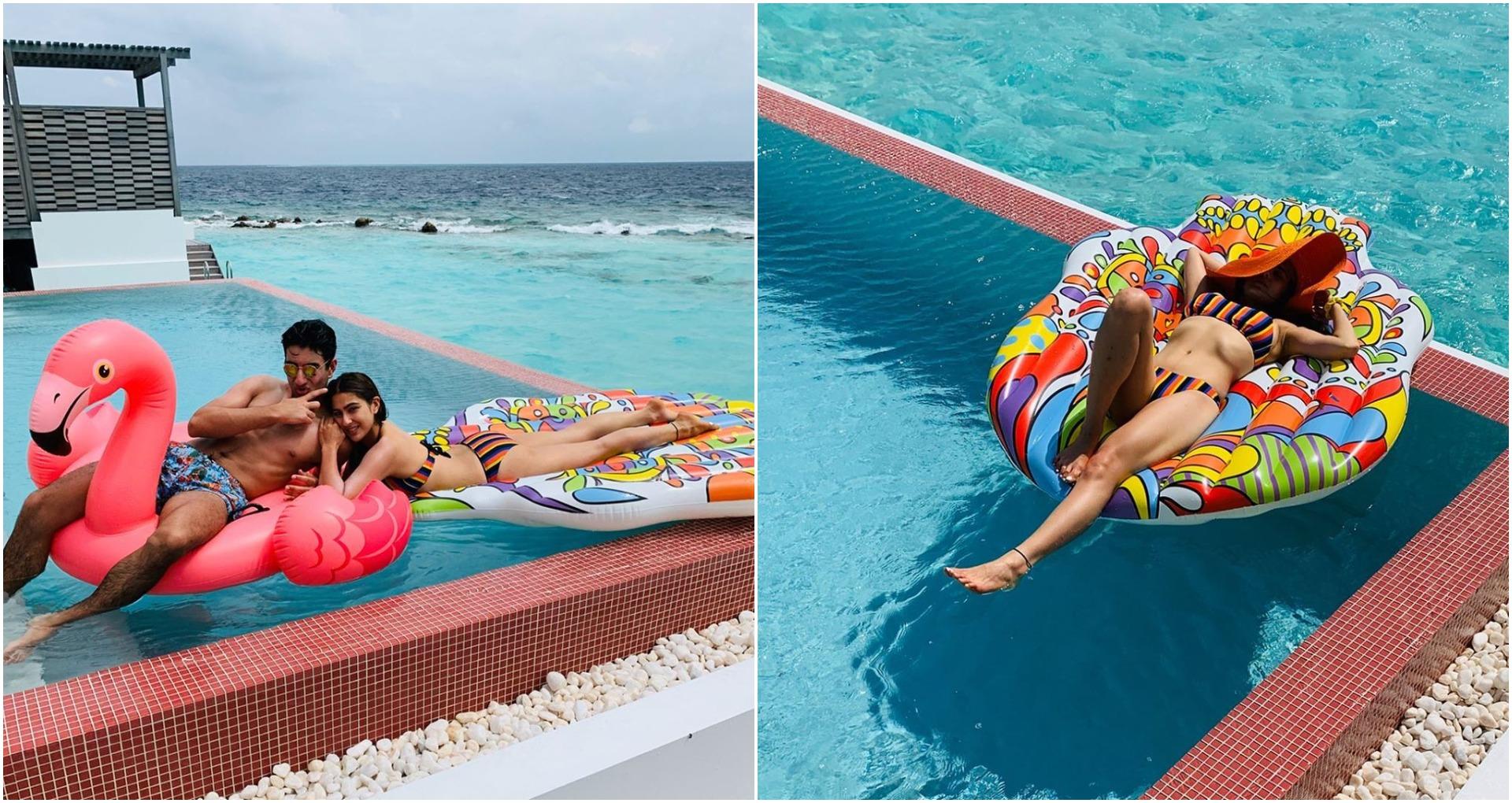 जल परी सारा अली खान ने पोस्ट की हॉट तस्वीरें, मालदीव में मना रहीं हैं छुट्टियां, देखें तस्वीरें