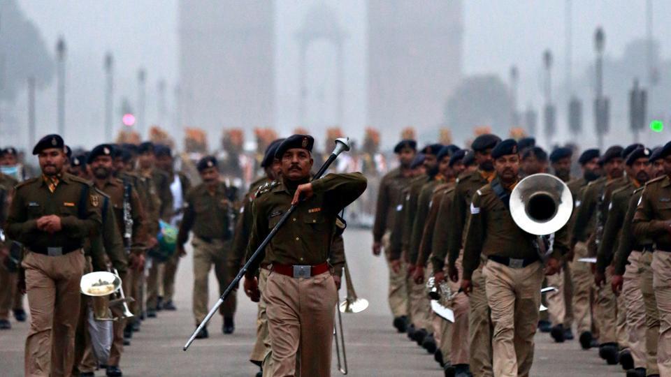 गणतंत्र दिवस परेड की तस्वीर