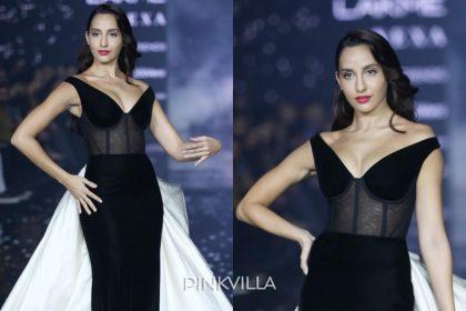 Lakme Fashion Week 2020: नोरा फतेही ने रैंप वॉक करते हुए एक काले और सफेद पहनावे में बिखेरा अपने हुस्ना का जलवा