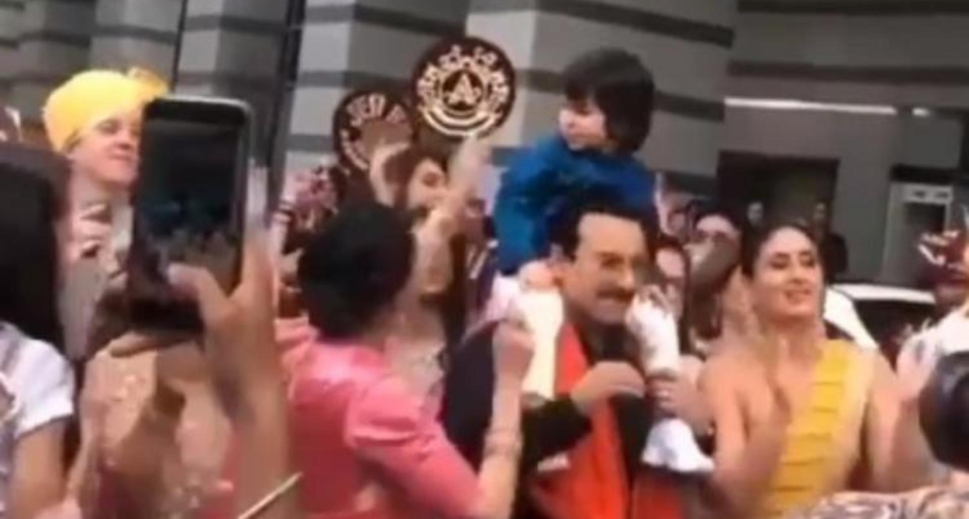 Video: तैमूर अली खान बने बाराती, पिता सैफ अली खान के कंधे पर बैठ कर किया डांस