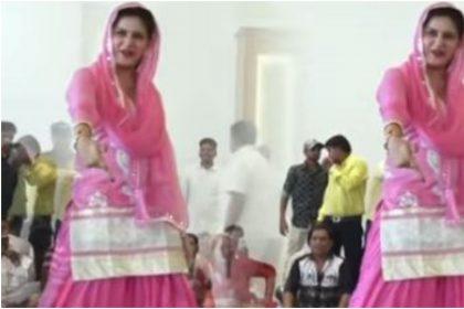 Sapna Chaudhary Video:सपना चौधरी ने 'मुमताज' गाने पर जोरदार ठुमके, गाना हुआ वायरल, देखें वीडियो
