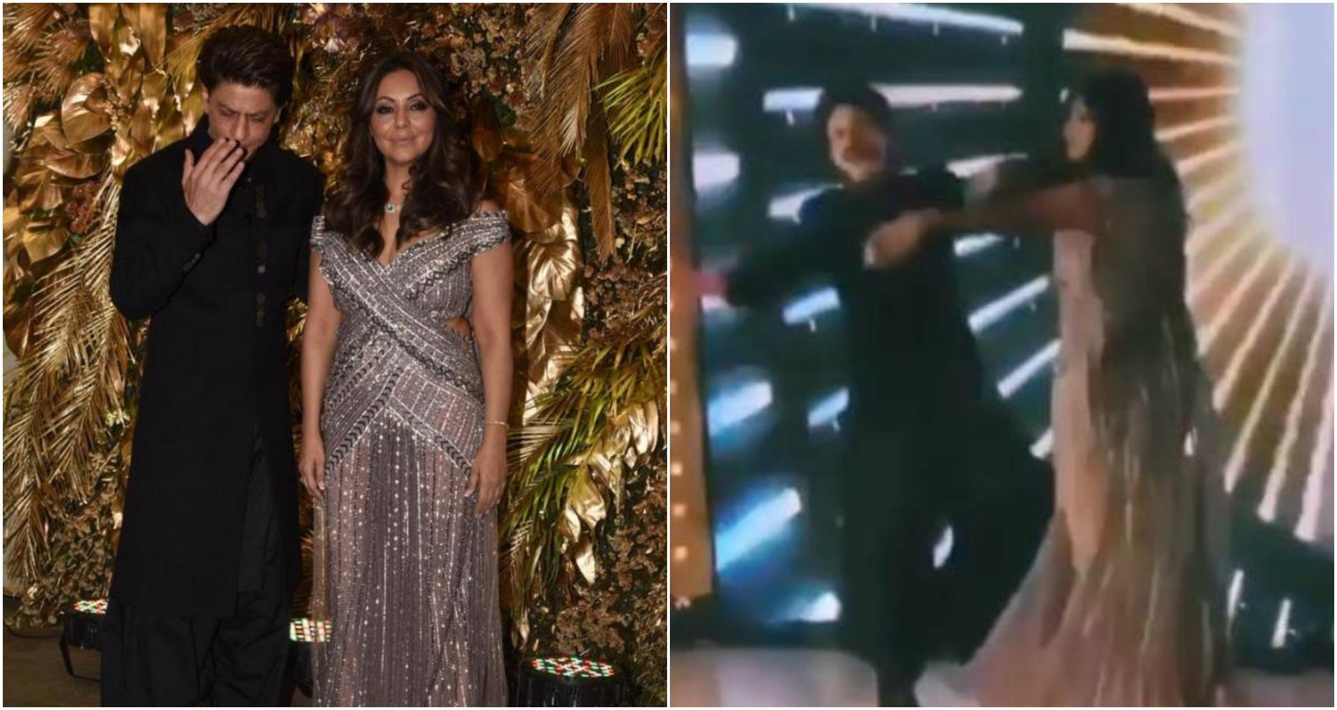 VIDEO: शाहरुख खान और गौरी खान ने 'कजरा रे' और 'साडी गली भूल के' गाने पर लगाये ठुमके, देखें वीडियो