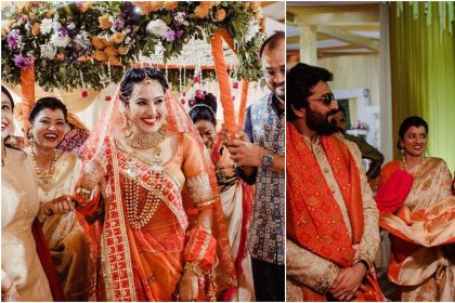 Kamya Punjabi introduces herself as Mrs Kamya Shalabh Dang, Shalabh welcome her in a Dang family