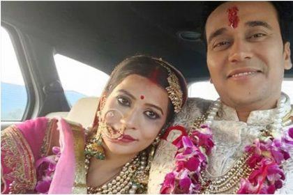 अनुराग शर्मा और नंदिनी गुप्ता की तस्वीर (फोटो: इंस्टाग्राम)