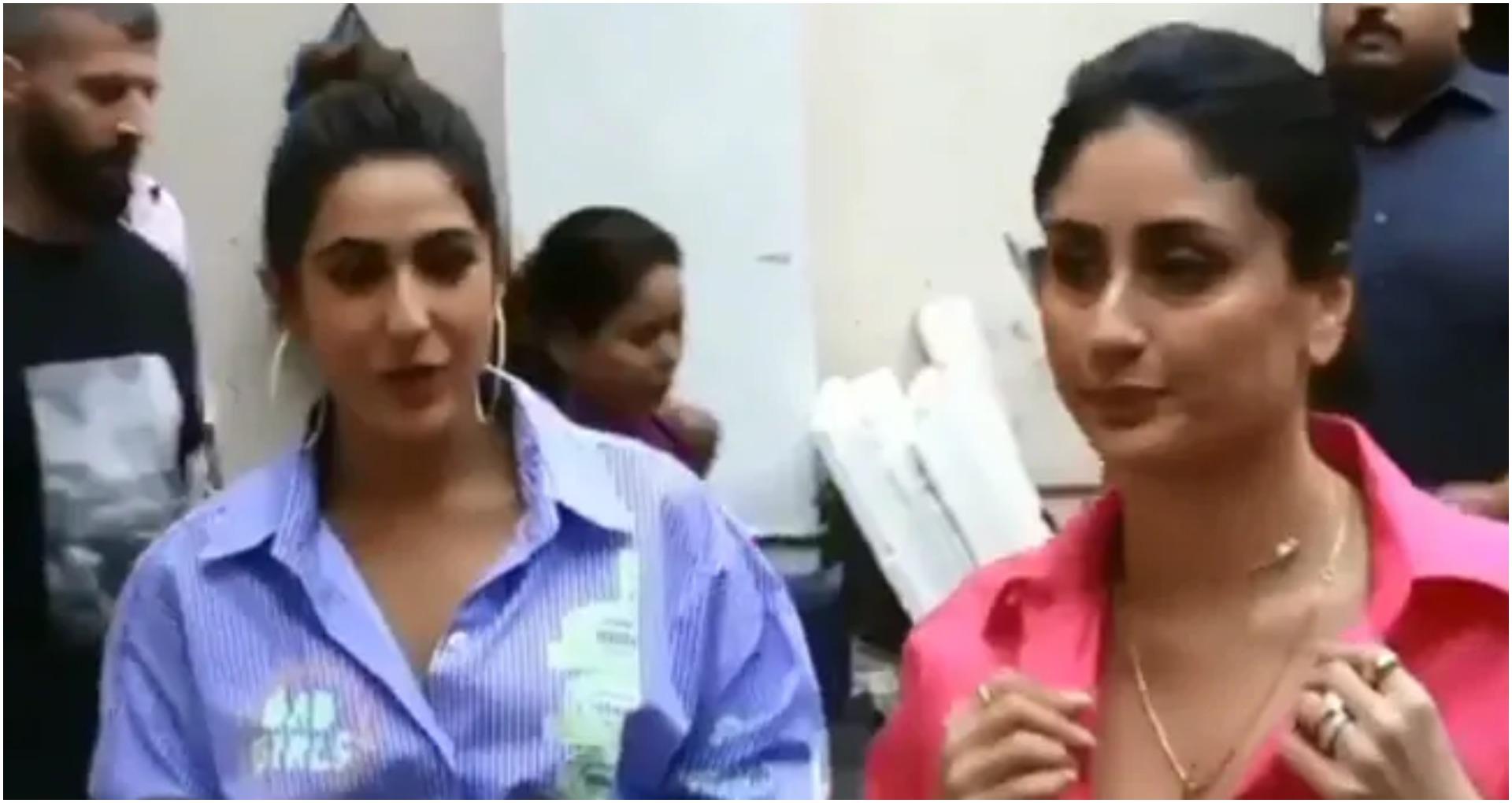 करीना कपूर खान और सारा अली खान का वीडियो वायरल, हॉट लगने के साथ – साथ दोनों की केमेस्ट्री लगी प्यारी