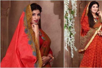 Poonam Dubey Photos: पूनम दुबे ने साड़ी पहन ढाया कहर, देखें तस्वीरें