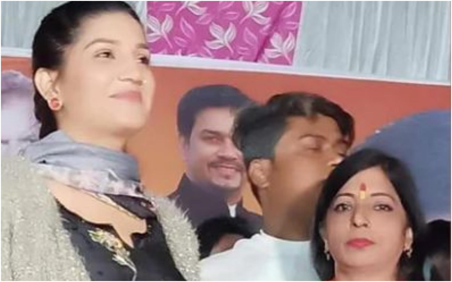 सपना चौधरी पहुंची BJP के प्रचार में, पूछा किसे वोट देंगे- जवाब मिला केजरीवाल को, Video Viral