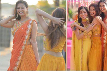 Shweta Tiwari look ethereal in yellow lehenga at brother Nidhaan Tiwari wedding, see photos