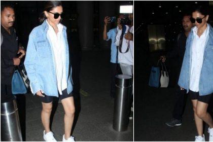 Deepika Padukone Photos: दीपिका पादुकोण एयरपोर्ट पर कूल लुक में आईं नजर, देखें तस्वीरें