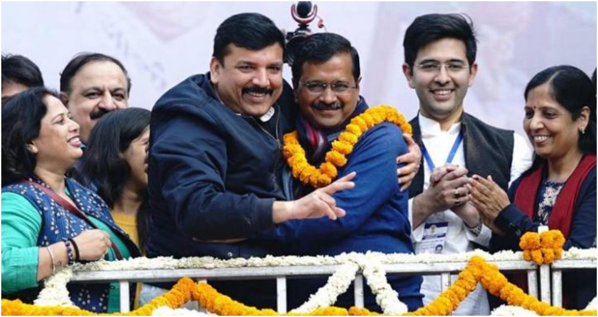 Delhi Election Result: जीत का स्वाद चखने के बाद 'आप' ने शेयर किया वीडियो, हुआ वायरल