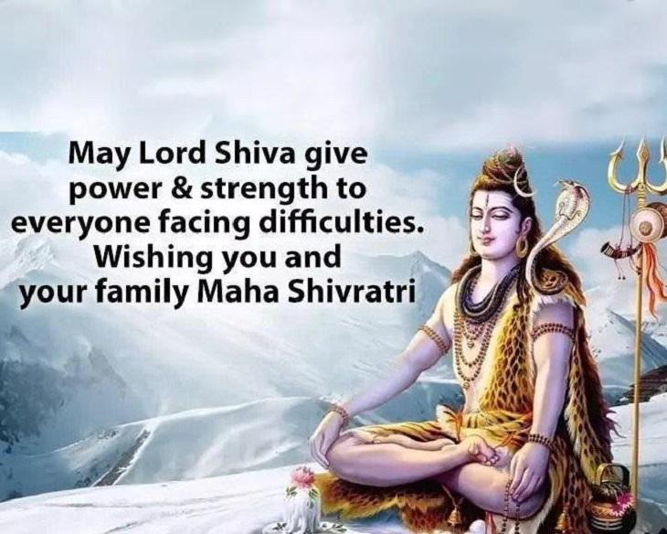 Maha Shivratri 2020 :इस साल महाशिवरात्रि 21 फरवरी 2020 को मनाई जा रही हैं। ऐसा माना जाता हैं इस दिन शिवजी की पूजा और अर्चना करने सेमनोकामनाएं पूरी होती हैं। श्विवजी की असीम कृपा और त्यौहार की ढेरों बधाई आप अपने प्रियजनों को भी जरूर देना चाहते होंगे। यहाँ देखिये महा शिवरात्रि की शुभकामनाएं वाले मेसेज और तस्वीरें जो आप अपने परिवार और दोस्तों के बीच बांट सकते हैं। शिव की बनी रहे आप पर छाया, पलट दे जो आपकी किस्मत की काया; मिले आपको वो सब अपनी ज़िन्दगी में, जो कभी किसी ने भी न पाया! शिवरात्रि की हार्दिक शुभकामनायें!