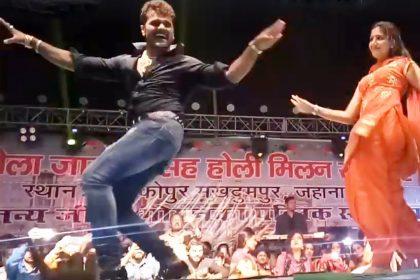 Khesari Lal Yadav Bhojpuri Song: खेसारी लाख यादव ने सपना चौधरी संग किया जोरदार डांस, वायरल हुआ वीडियो