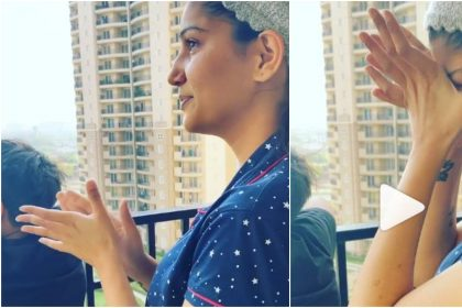 Janta Curfew: Sapna Choudhary cries during clapping for corona fighters, video goes viral, see video