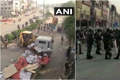 Coronavirus Lockdown: शाहीन बाग़ से पुलिस ने हटाए तंबू, कुछ देर बाद फिर भीड़ पहुंची