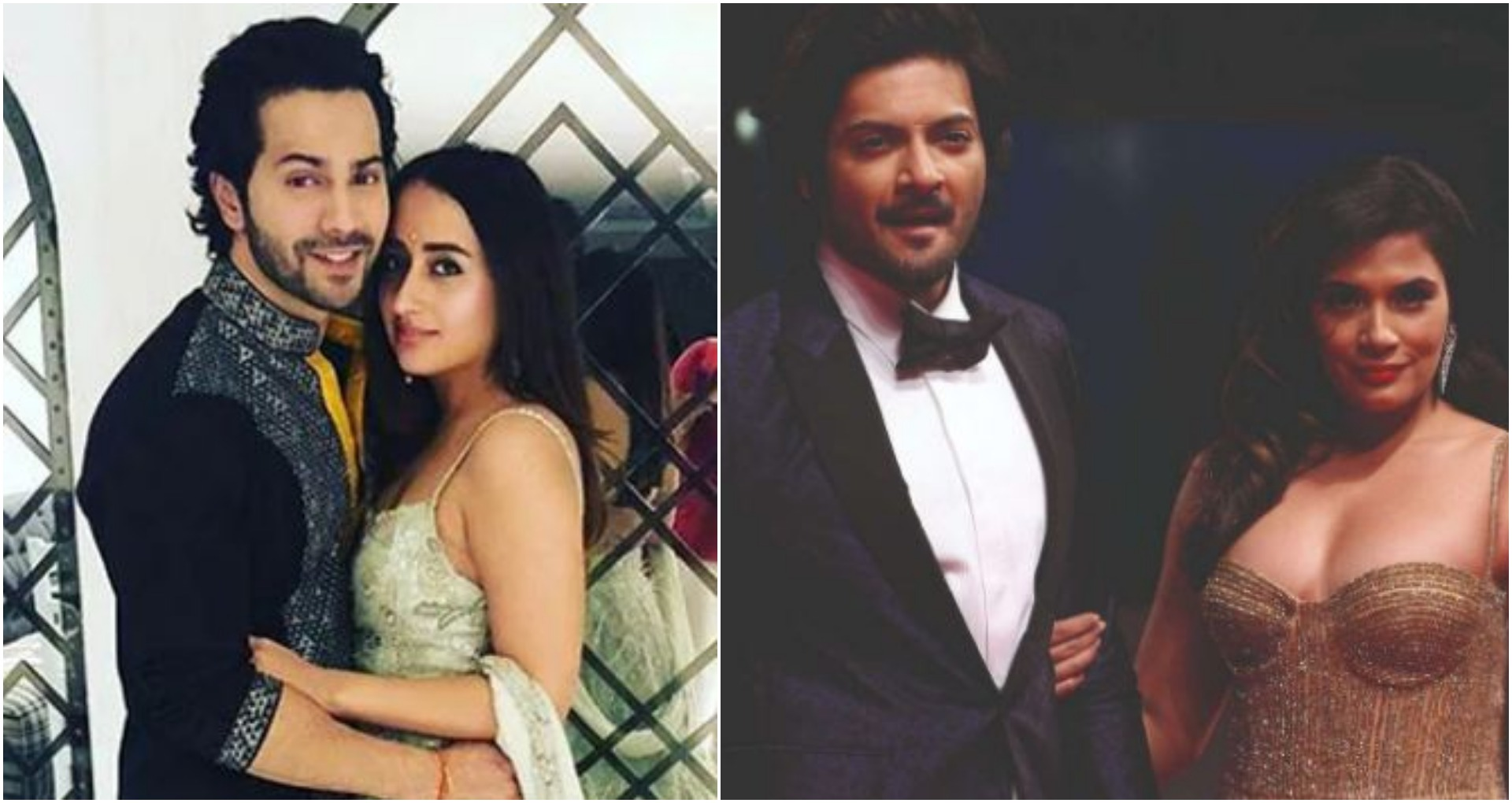 कोरोना वायरस के चलते अब वरुण धवन (Varun Dhawan) और नताशा दलाल (Natasha Dalal) व ऋचा चड्ढा (Richa Chadha) और अली फजल (Ali Fazal) की शादी की तारीखें भी आगे बढ़ा दी गई हैं। वरुण धवन और नताशा दलाल की शादी को लेकर खबर थी कि ये दोनों इस साल गर्मी के मौसम में शादी करने वाले थे लेकिन कोरोना वायरस के चलते अब शादी को नवंबर में शिफ्ट कर दिया गया है। वहीं ऋचा चड्ढा और अली फजल की शादी भी अप्रैल के महीने में ही होनी थी अब उसे भी भी कोरोना वायरस की वजह से टाल दिया गया है।
