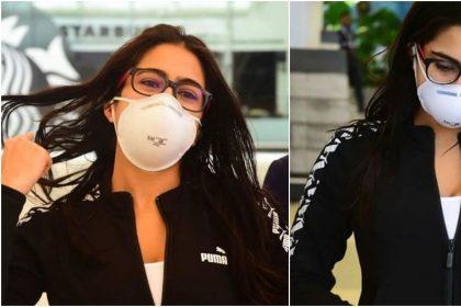 Sara Ali Khan Photos: कोरोना वायरस के चलते मास्क लगाए नजर आईं सारा अली खान, देखें तस्वीरें