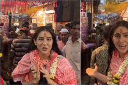 गंगा आरती करने के बाद, बनारस की गलियों में घूमती नजर आई सारा अली खान, वीडियो हुआ वायरल