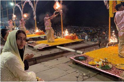 Sara Ali Khan visits Ganga ghat in Varanasi and offers her prayers