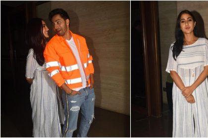 PHOTOS: 'कुली नंबर 1' कपल वरुण धवन और सारा अली खान ने एक साथ दिए शानदार पोज, देखें तस्वीरें
